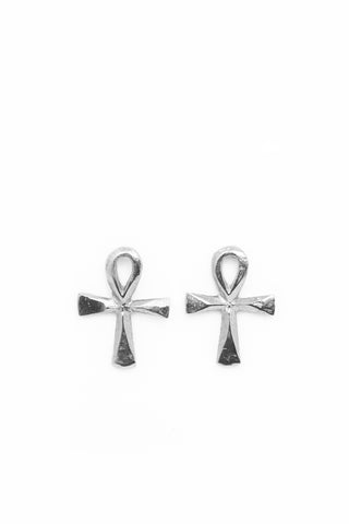 THE ANKH Stud Earrings Sterling Silver