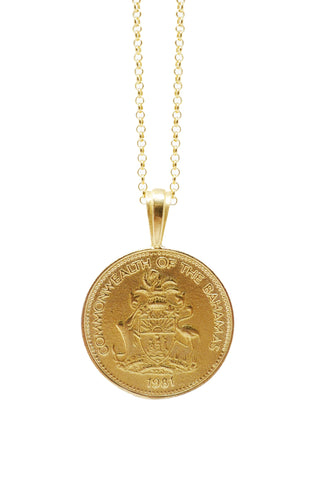 THE BAHAMAS Pineapple Coin Necklace
