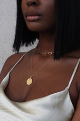 THE SINGLE COIN Necklace Stack II in Rose Gold