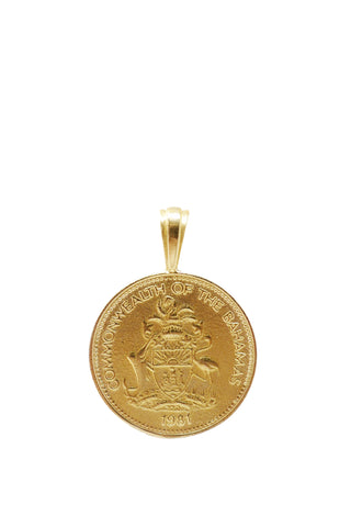 The BAHAMAS Pineapple Coin Pendant