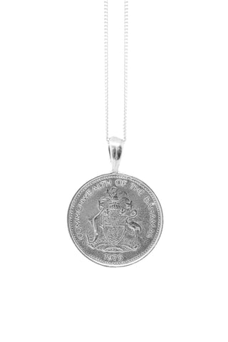 THE PYRAMID Coin Necklace in Silver