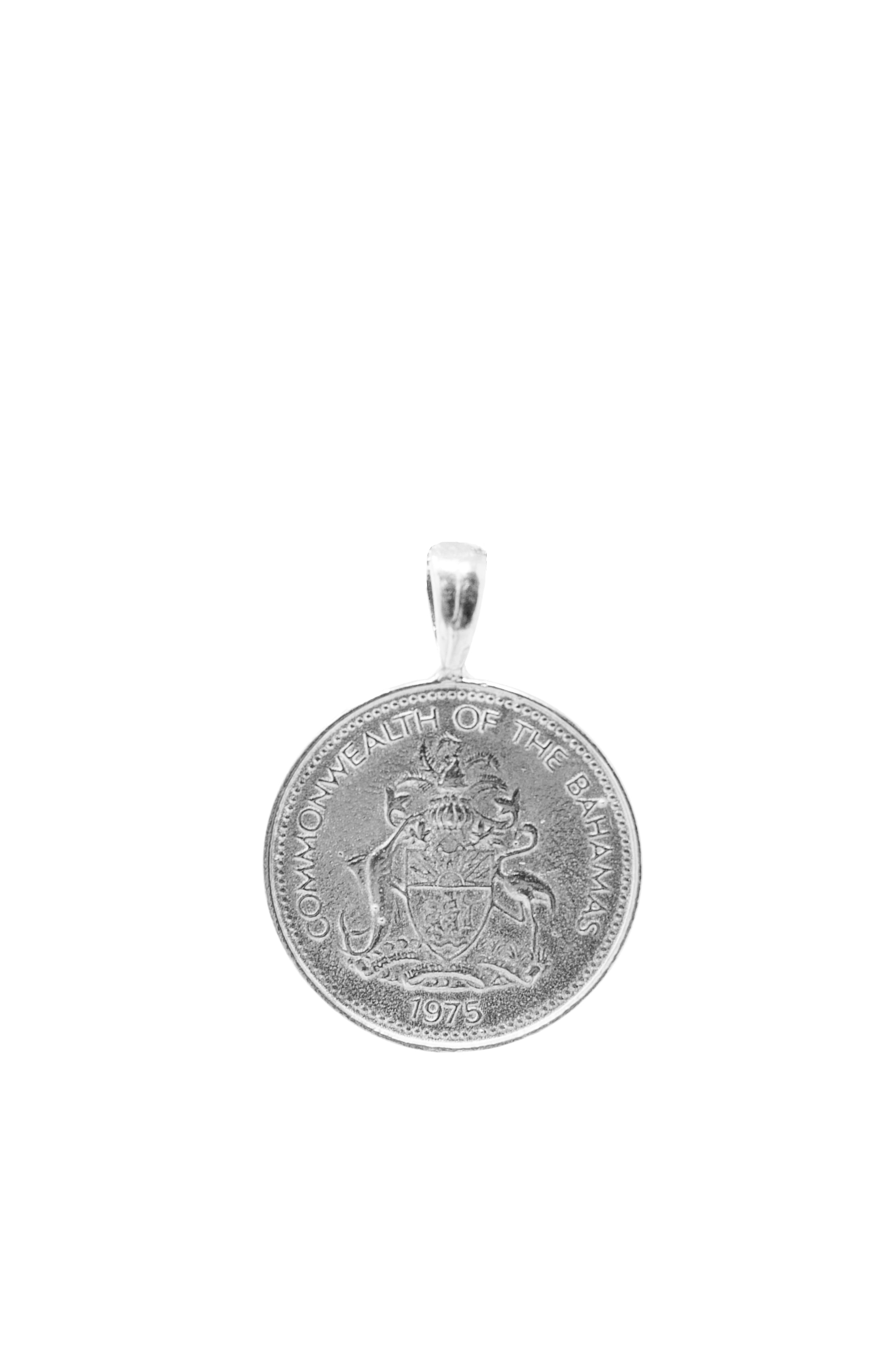 THE DOUBLE Up Coin Necklace Stack I in Silver