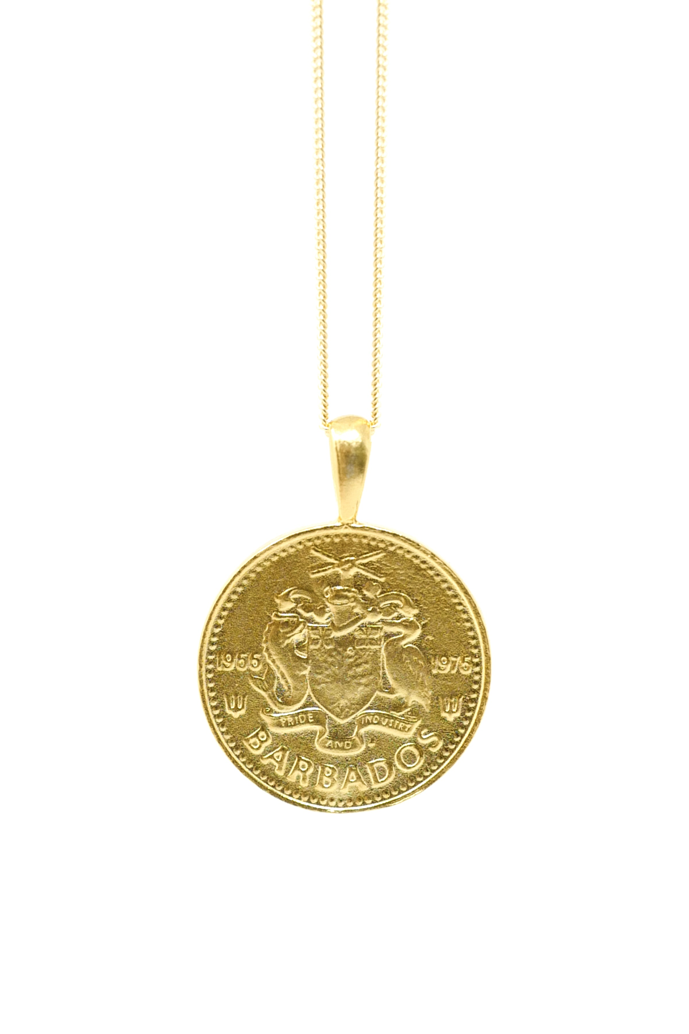 THE BARBADOS Independence Coin Necklace
