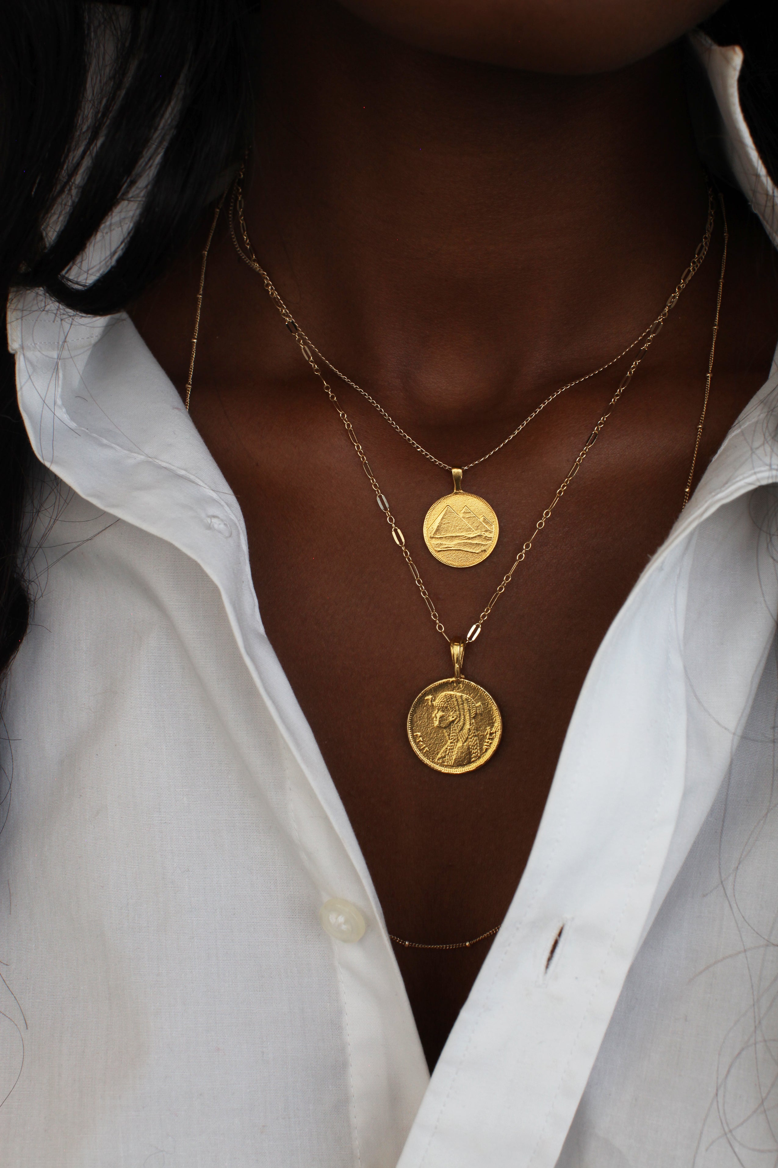 THE CLEOPATRA Coin Pendant in Sterling Silver