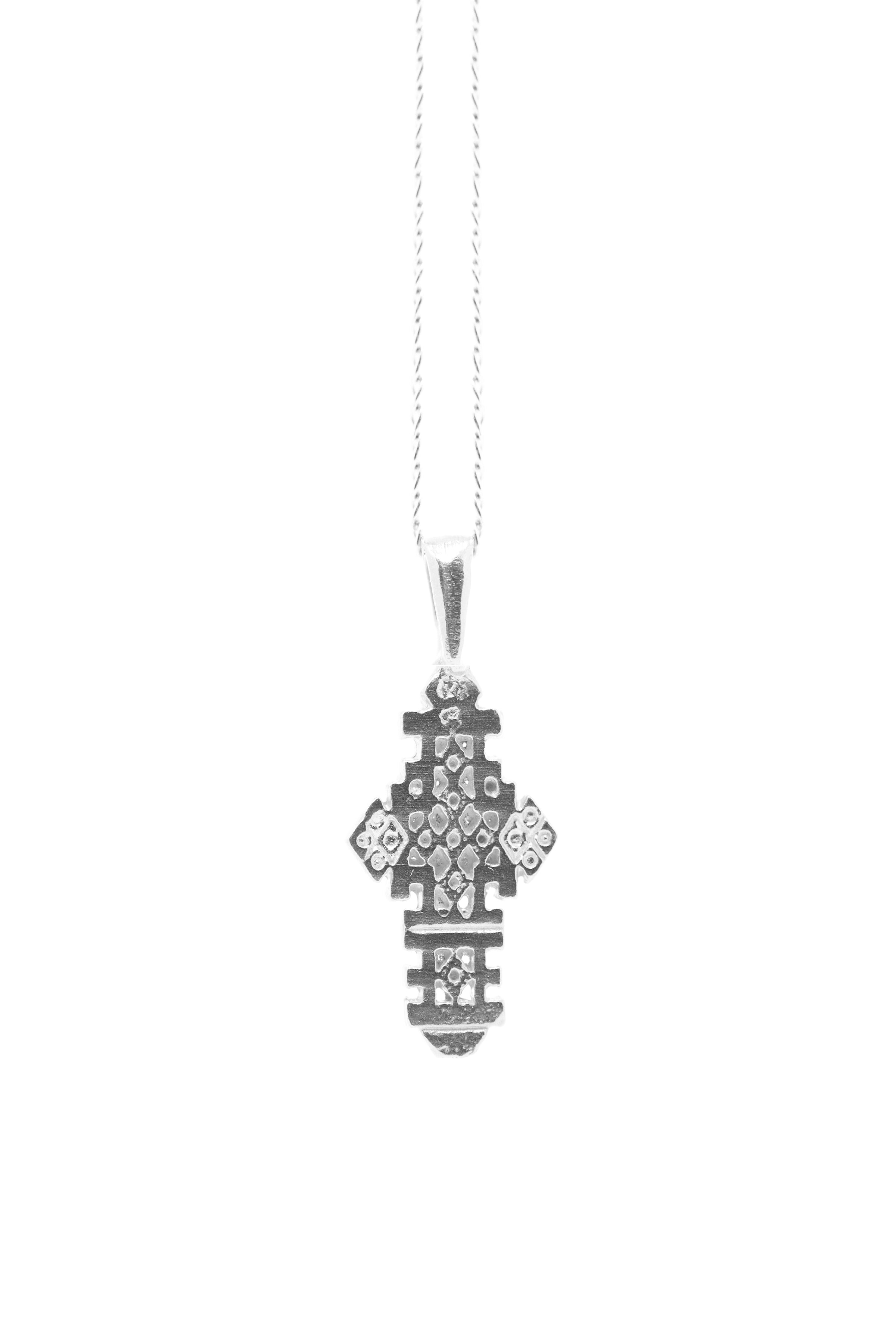 THE ETHIOPIAN Coptic Cross Necklace Sterling Silver
