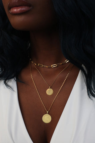 THE DOUBLE Up Coin Necklace Stack V