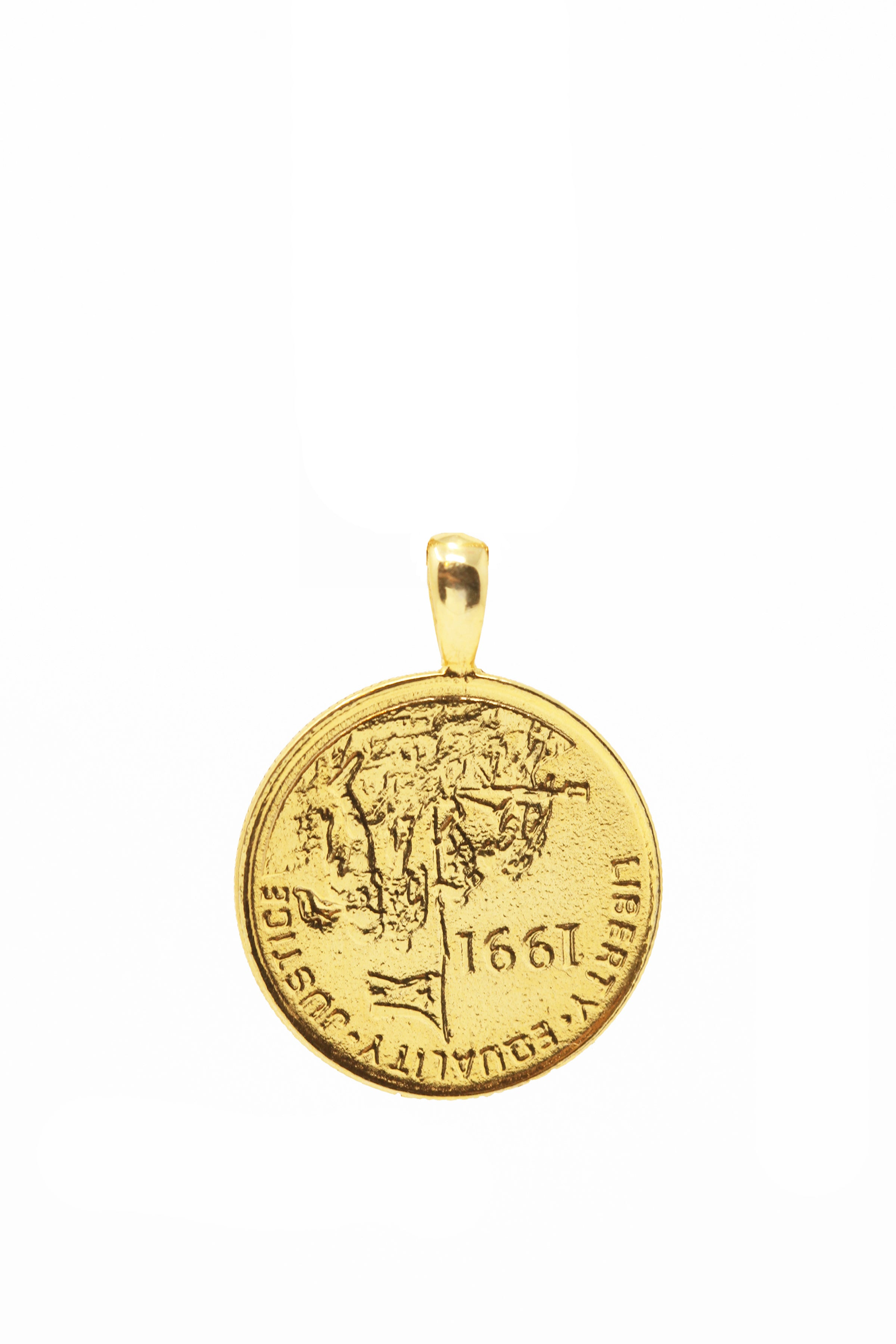 THE ERITREA Leopard Coin Pendant