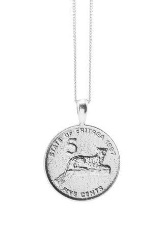 THE QUEEN of Sheba Coin Necklace in Silver