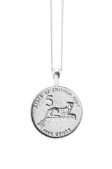 THE ERITREA Leopard Coin Necklace in Silver