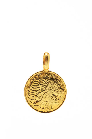 THE ETHIOPIAN Lion Coin Pendant