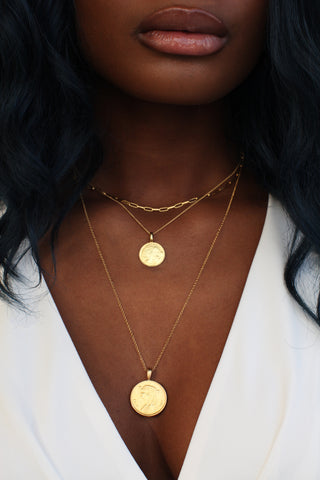 THE DOUBLE Up Coin Necklace Stack III