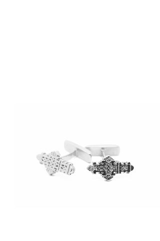 THE ETHIOPIAN Coptic Cross Cufflinks in Silver