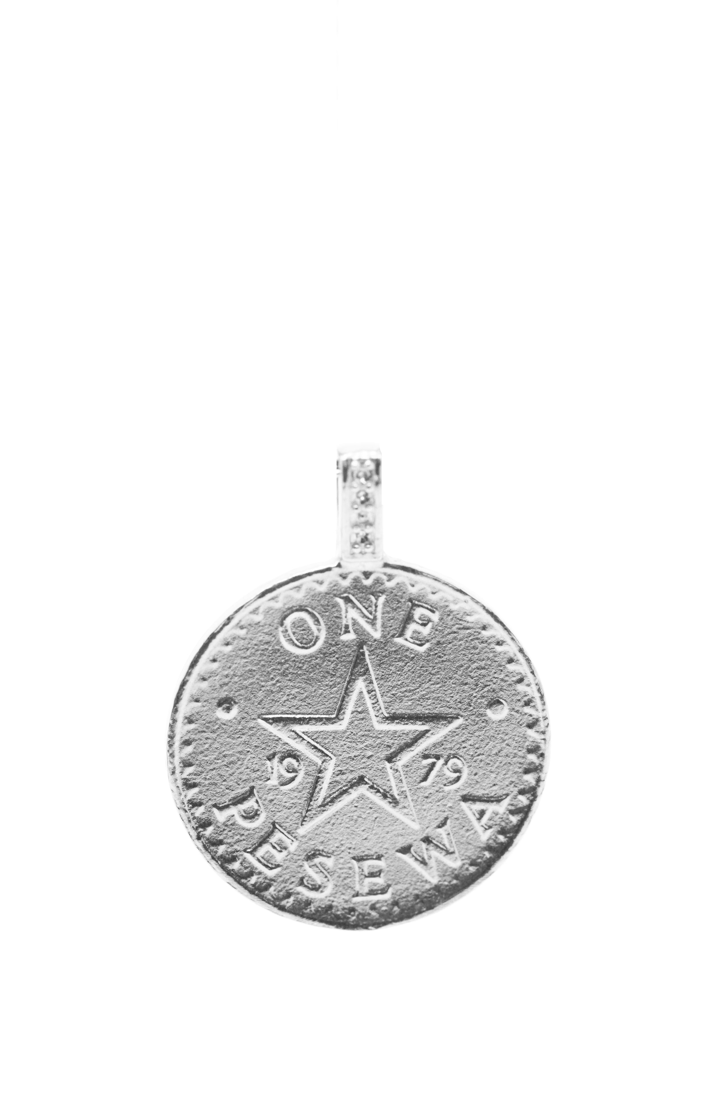 THE GHANA Talking Drum Coin Pendant in Sterling Silver