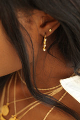 THE BAMBOO Pearl Earrings
