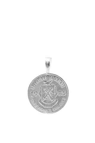THE LIBERIA Coin Pendant in Silver