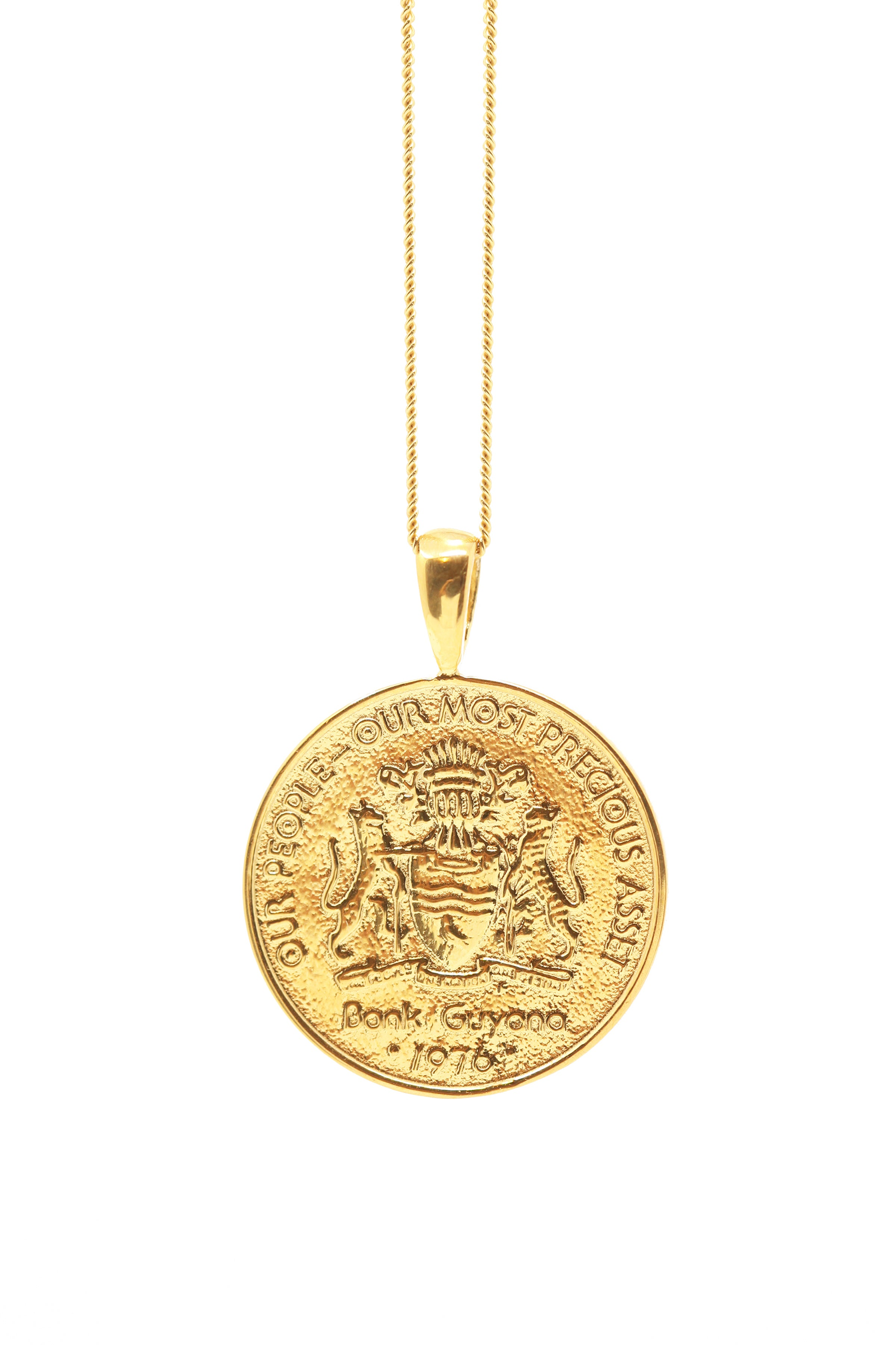 THE GUYANA Jaguar Coin Necklace