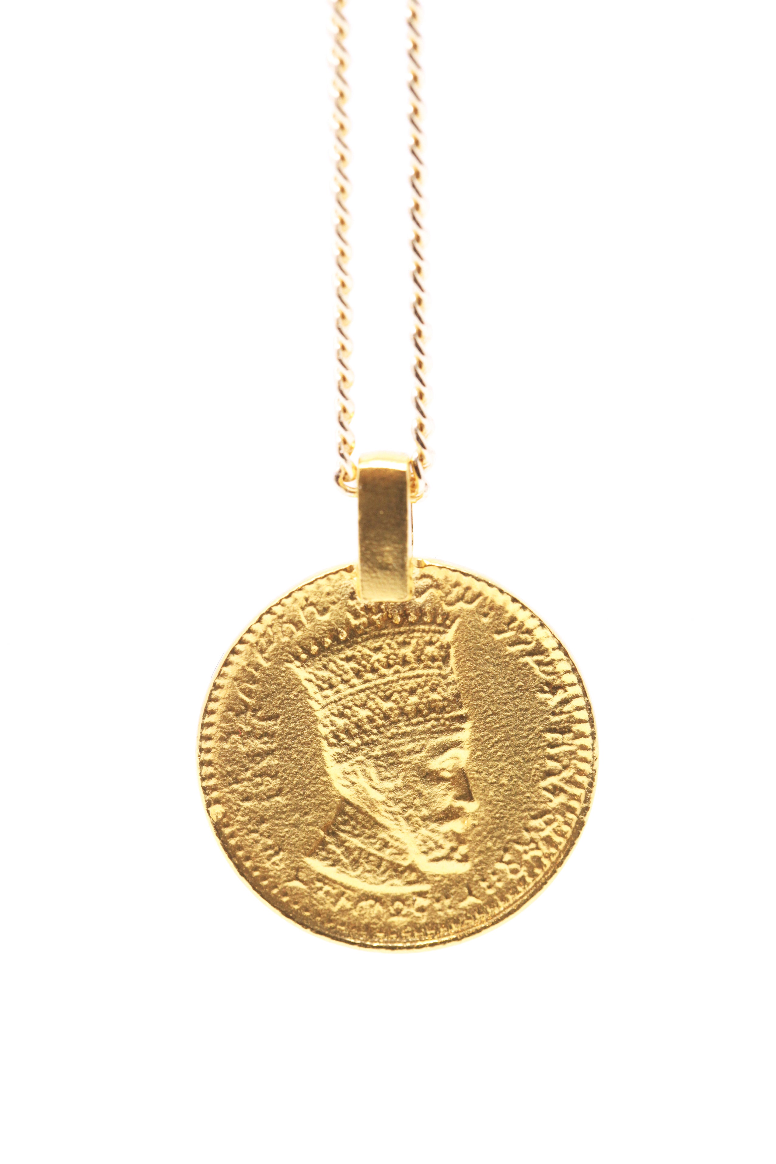 THE RASTAFARI Coin Necklace Sterling Silver