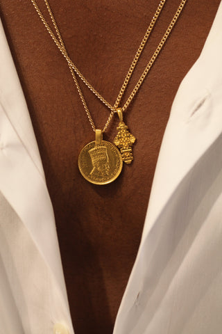 THE ETHIOPIAN Coptic Cross Necklace with Thick Chain