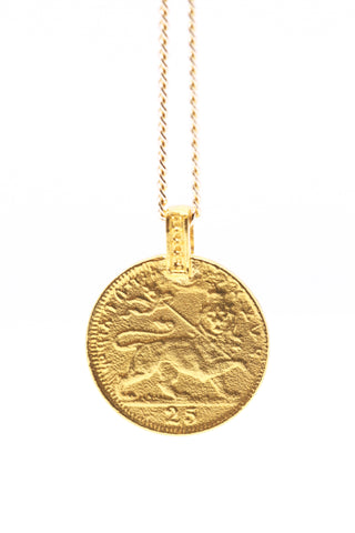 THE RASTAFARI  Coin Necklace