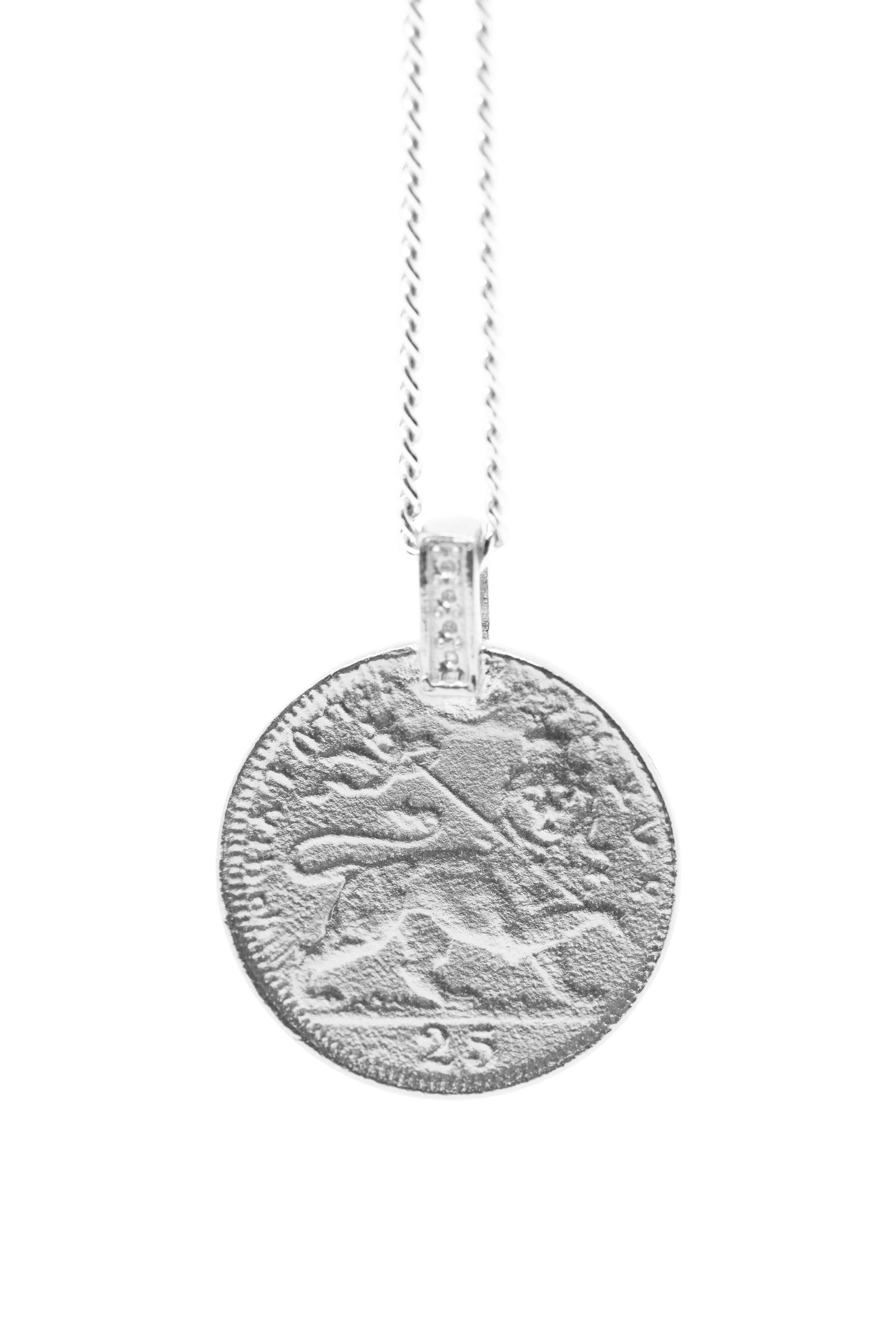 THE RAS TAFARI Coin Necklace Sterling Silver