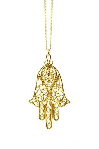 THE HAMSA Filigree Necklace