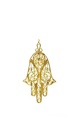 THE HAMSA Filigree Pendant