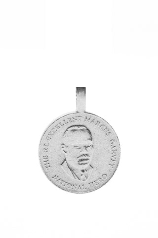 THE JAMAICAN Ackee Coin Pendant in Silver