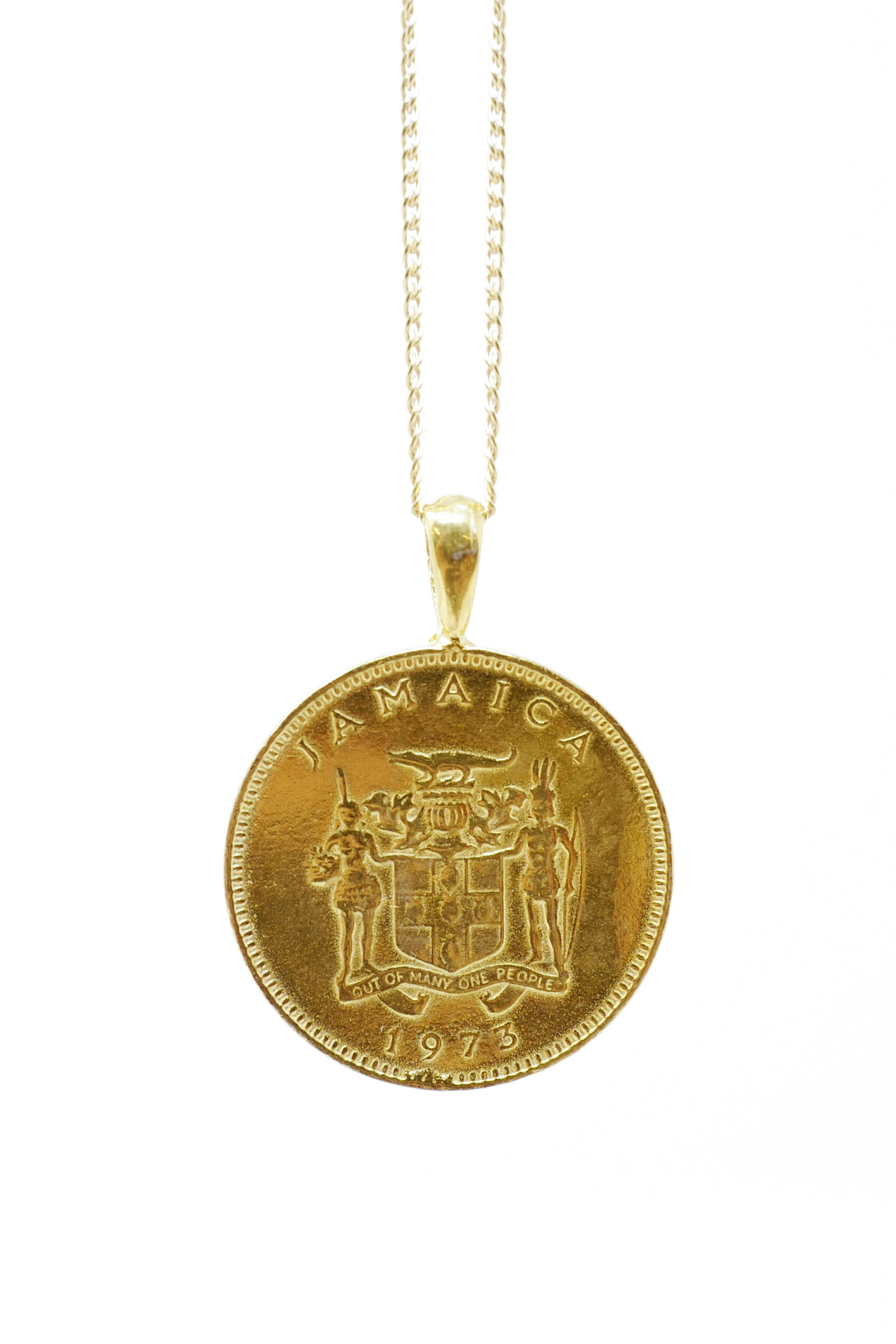 THE JAMAICAN Ackee Coin Necklace