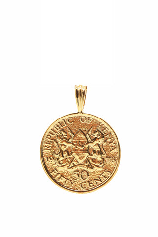 THE KENYA Kenyatta Coin Pendant