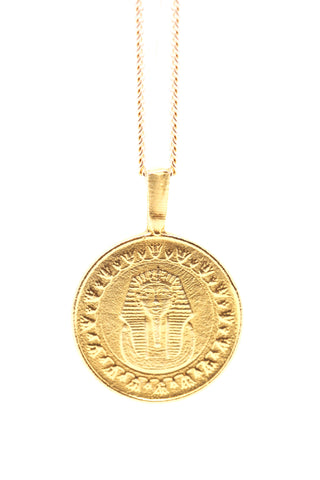 THE KING Tut Coin Necklace