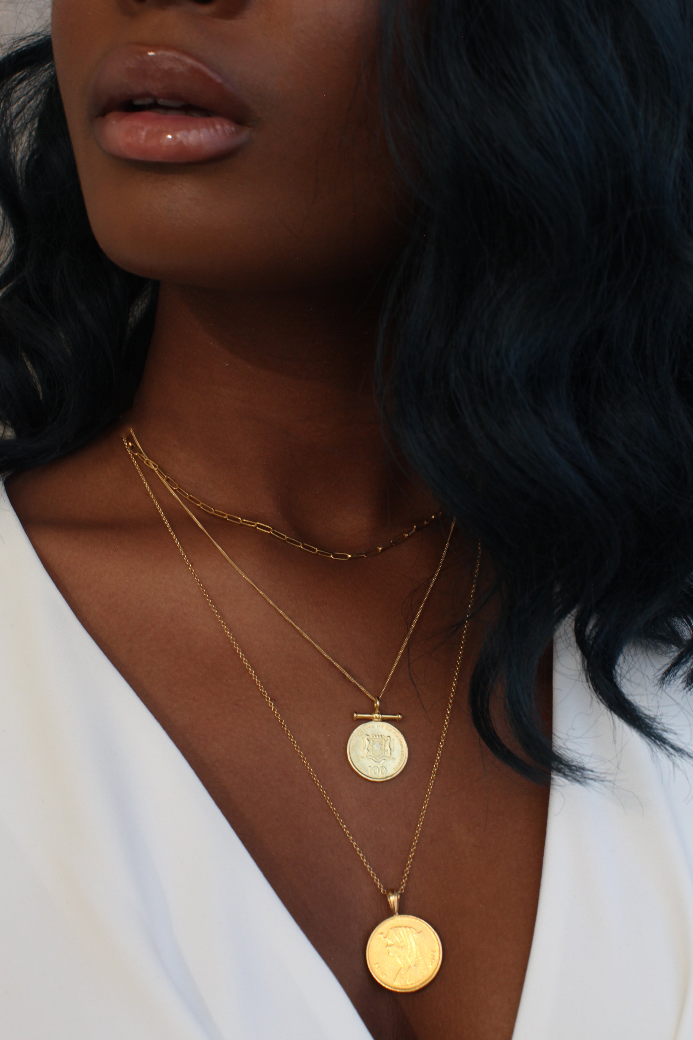 THE DOUBLE Up Coin Necklace Stack IV