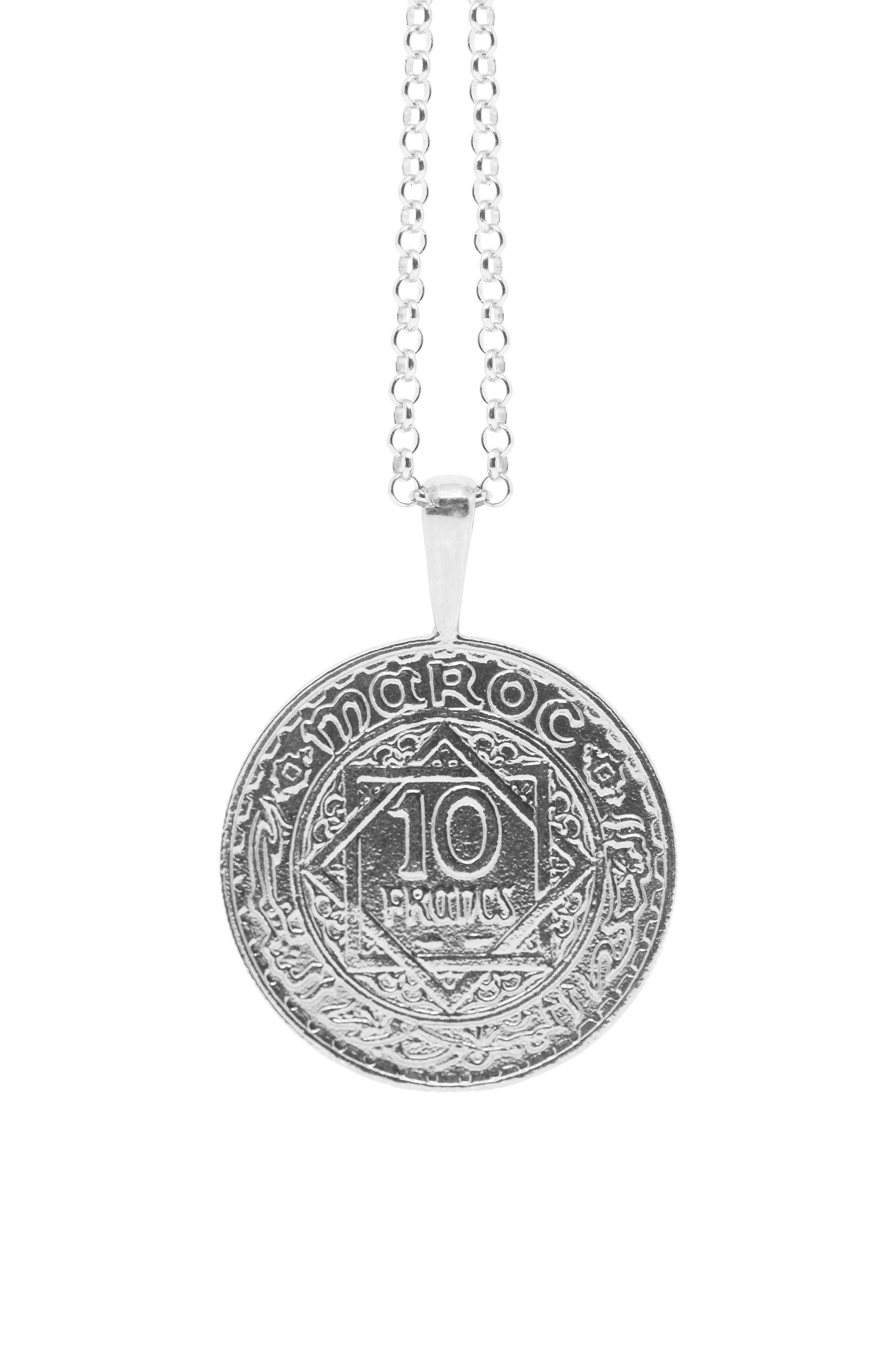 THE MOROCCO Coin Necklace in Silver