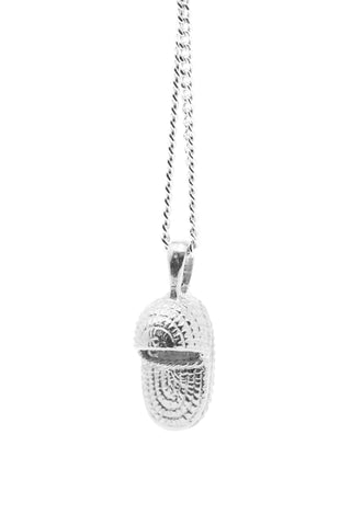 THE MOSES Basket Necklace in Silver