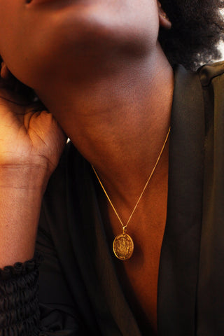 THE GHANA Talking Drum Coin Necklace
