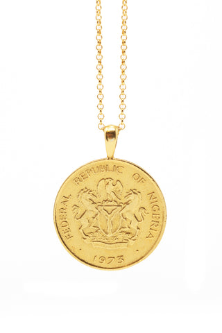 THE QUEEN of Sheba Classic Coin Necklace in Silver