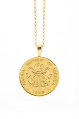 THE NIGERIA Crest and Palm Coin Necklace