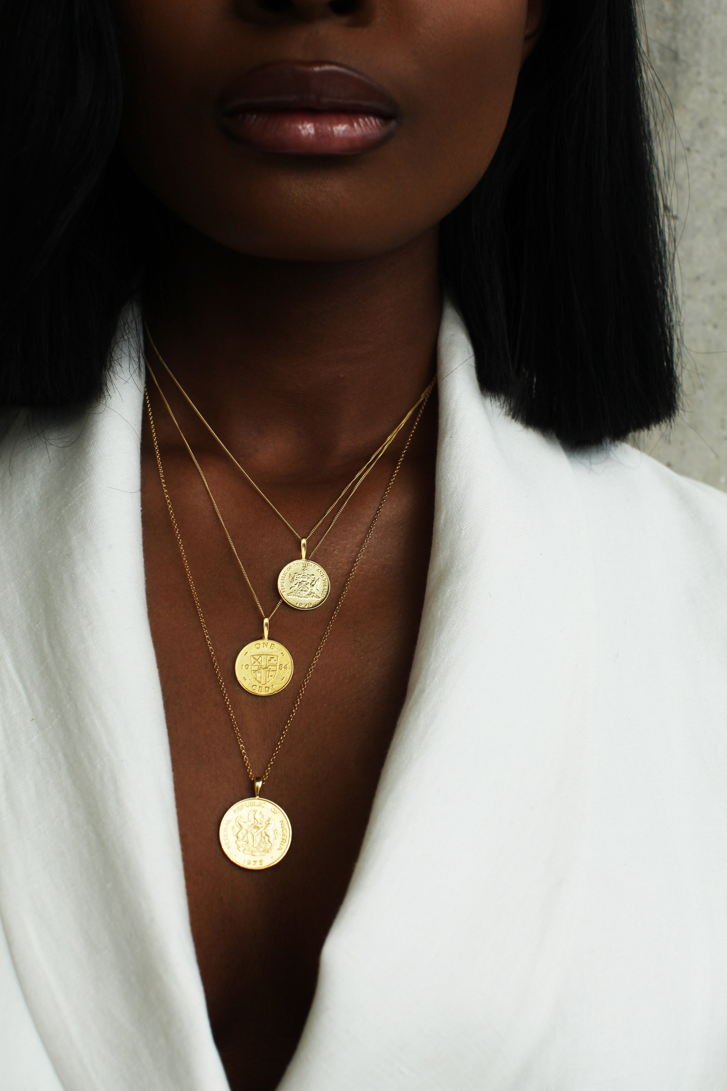 THE GHANA Crest and Cowrie Coin Necklace