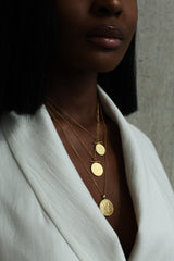 THE GHANA Crest and Cowrie Charm Necklace in Silver