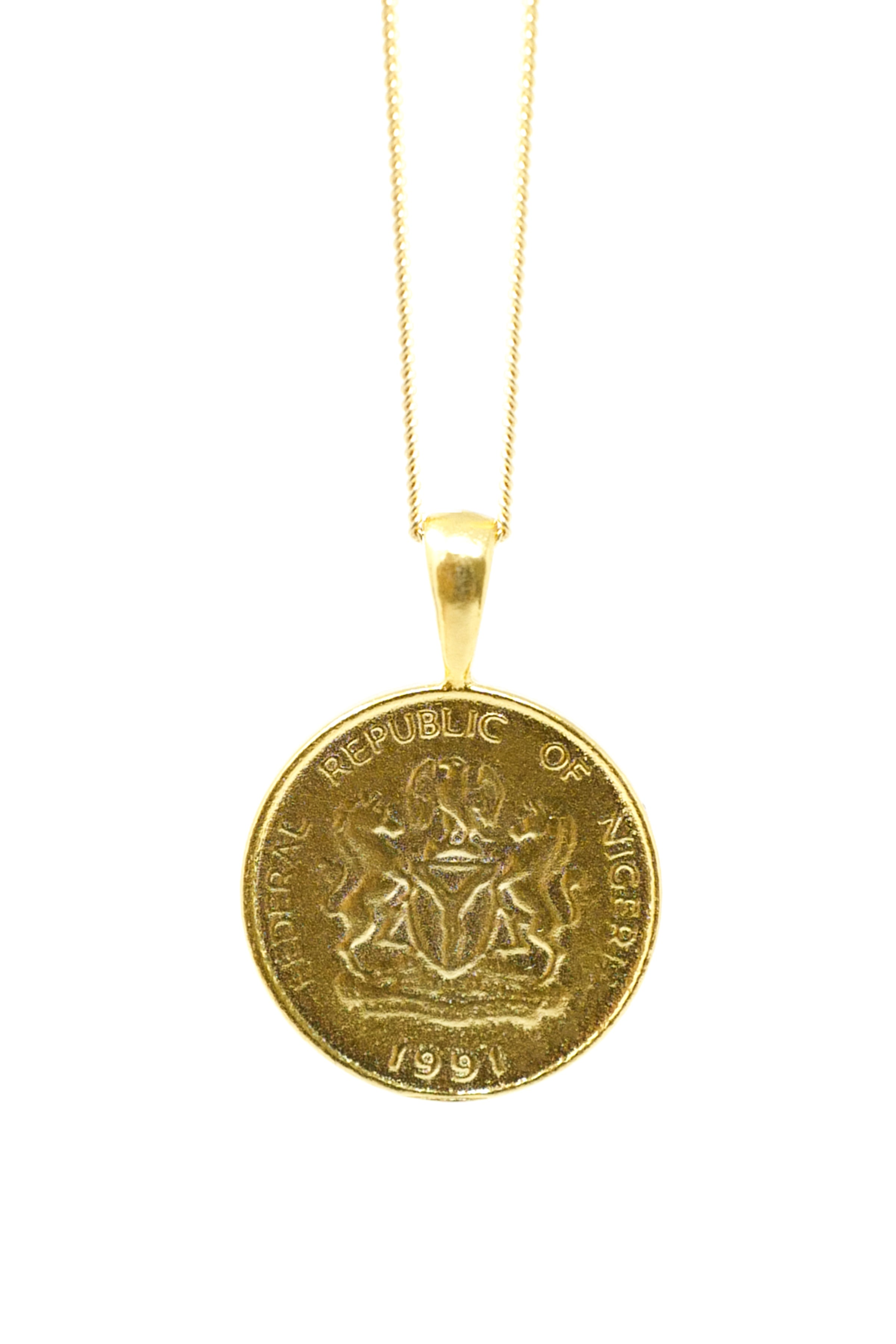 THE NIGERIA Kobo Coin Necklace