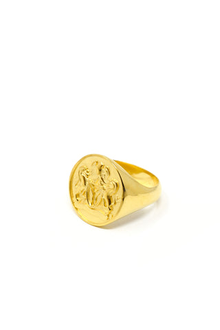 THE JAMAICA Crest Signet Ring I