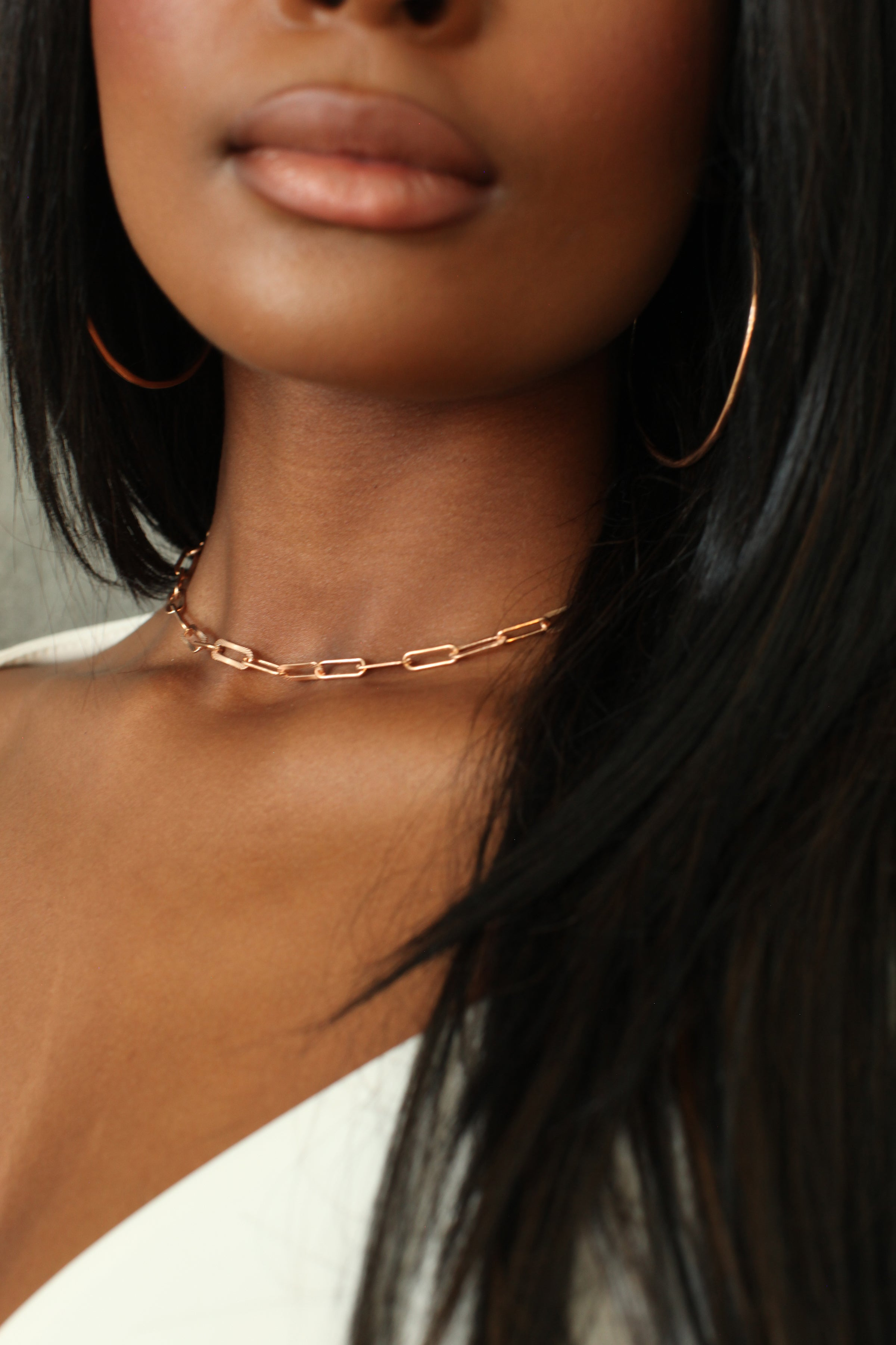 THE HEAVY Link Choker Chain in Rose Gold