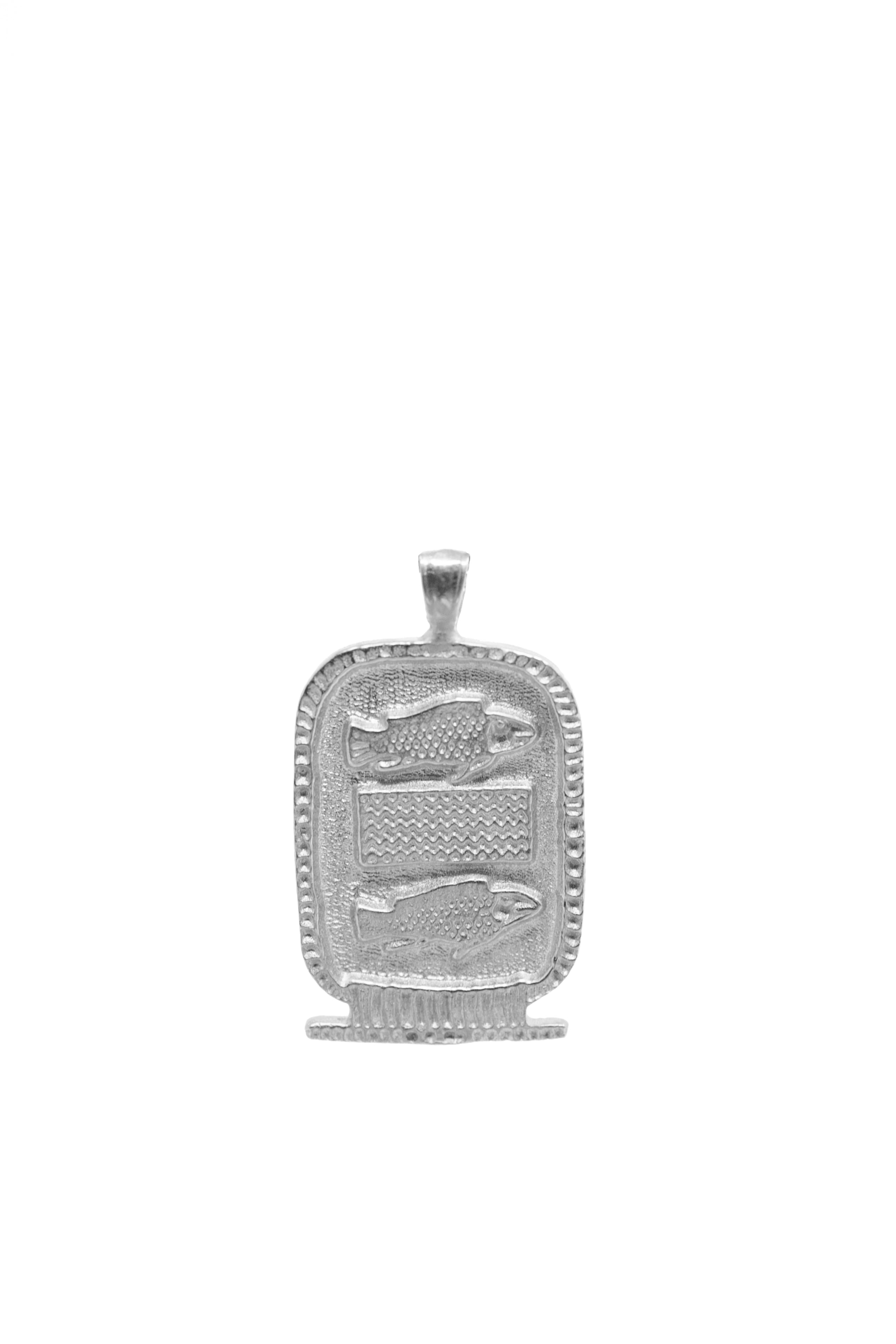 THE CARTOUCHE Zodiac Pendant in Silver