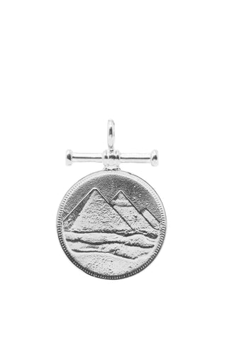 THE PYRAMID Charm in Silver