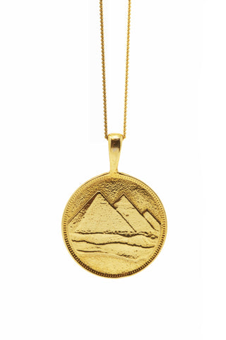 THE PYRAMID Coin Necklace