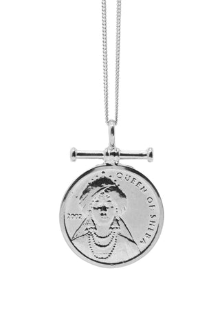 THE CLEOPATRA Coin Necklace in Silver