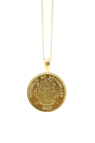 THE CONGO Lion and Turtle Coin Necklace
