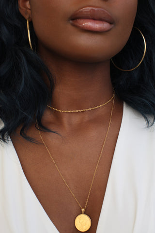 THE QUEEN of Sheba Coin Necklace