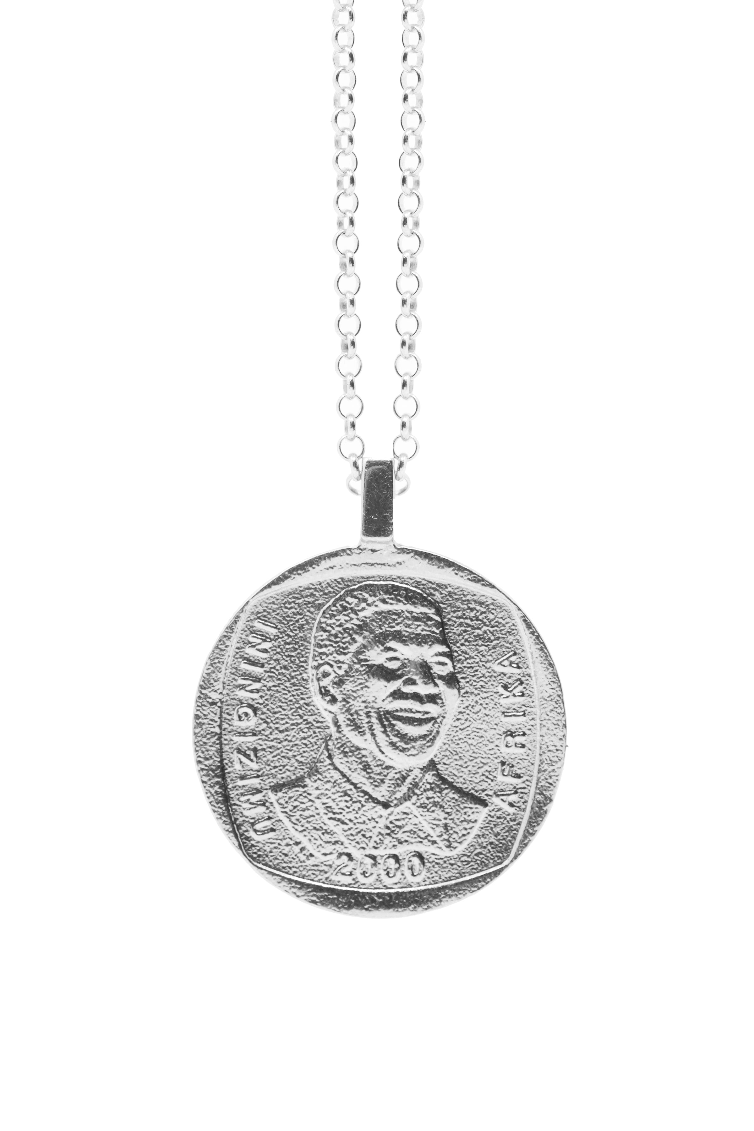 THE SOUTH Africa Mandela Necklace in Silver
