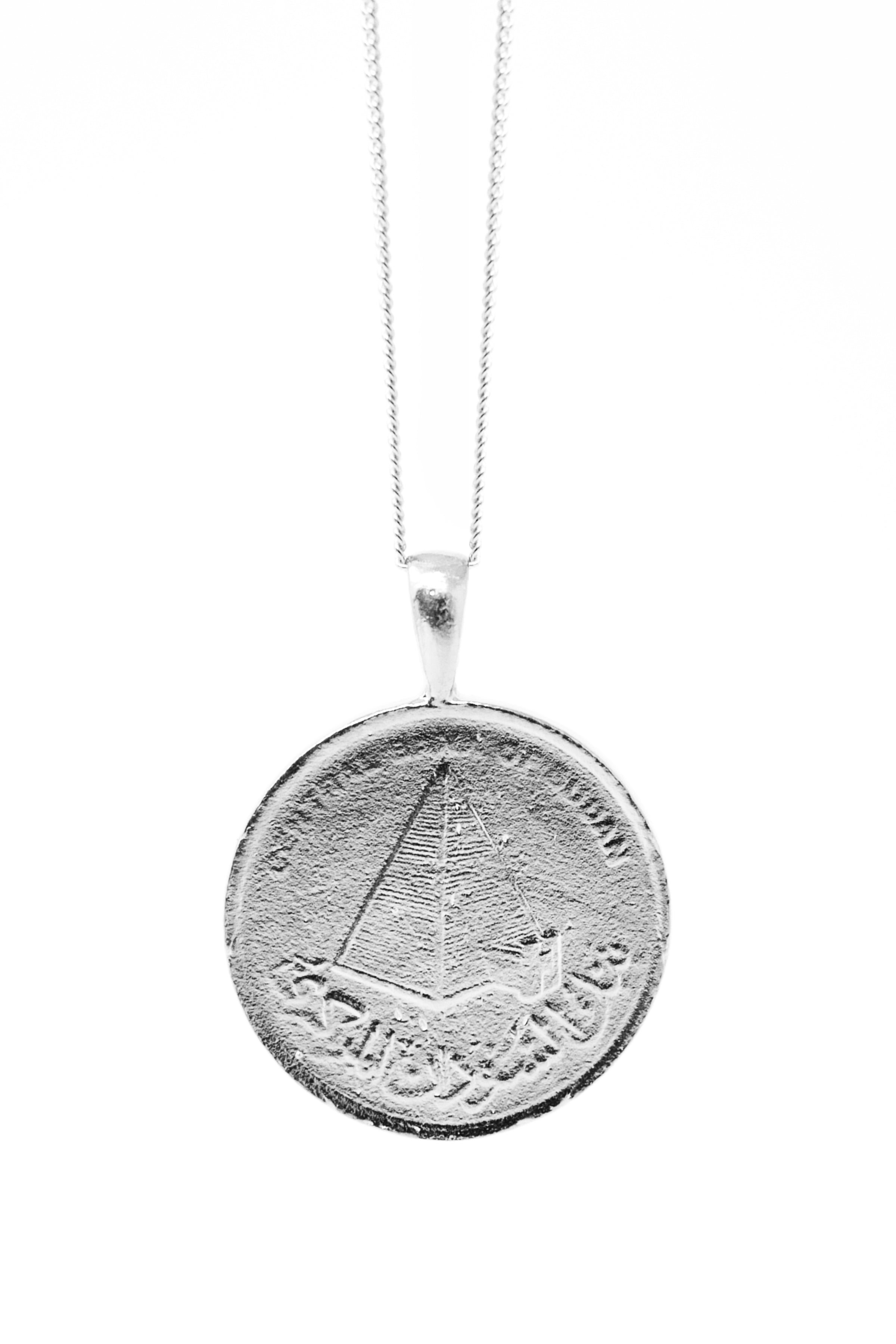 THE SUDAN Nubian Pyramid Coin Necklace