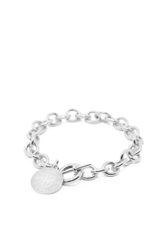 THE TOGGLE IV Bracelet with Coin Charm in Silver